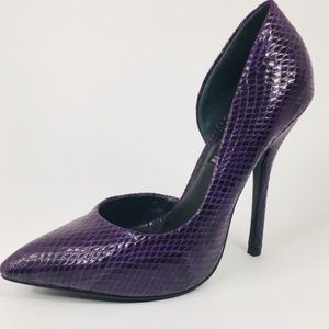 Steve by Steve Madden Newbee Purple Snake Pump 7